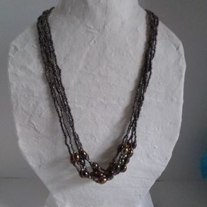 Multiple Strand Seed bead Necklace